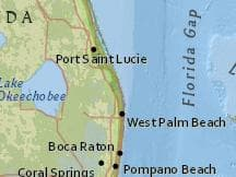 Map Of Florida Showing Jupiter.Average Weather In November In Jupiter Florida United States